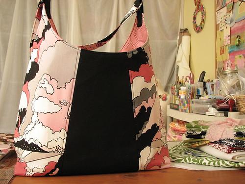pink & black bag
