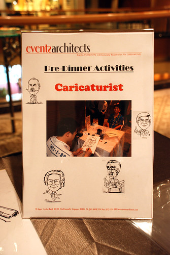 caricaturist display Event Architects