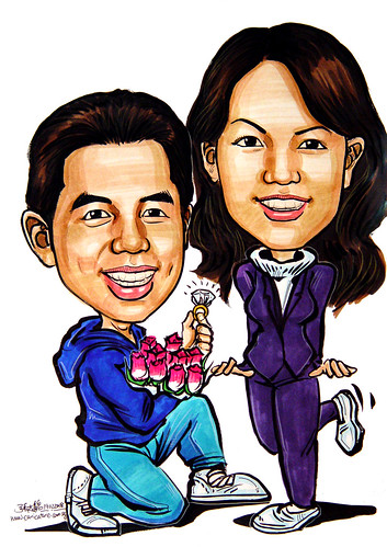 couple caricatures proposal 180208