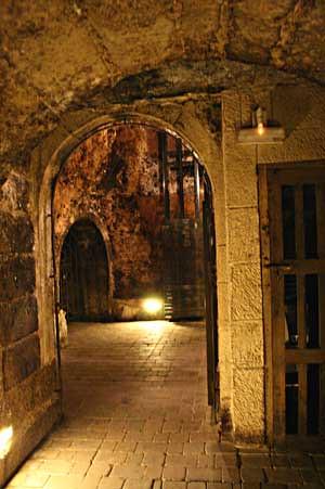 Subterraneos de una bodega en Laguardia