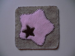 TWIN STARS felt coaster (Brown in Pink) (JoyceSeah_Singapore@flickr) Tags: pink brown colour cute wool kitchen shopping table grey knitting sandstone singapore soft hand display chocolate sewing stripes decoration felt made mat polkadots softies ornament kawaii joyce knitted cloth embriodery runner cuties coaster stitched minimalist shopaholic furnishing sewn woollen layered structured needlecrafts vitaminj embriodered shoppingkingsqueens singporean vitaminjs