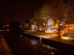 Riverside (Secret Pilgrim) Tags: longexposure england night river riverside surrey guildford wey