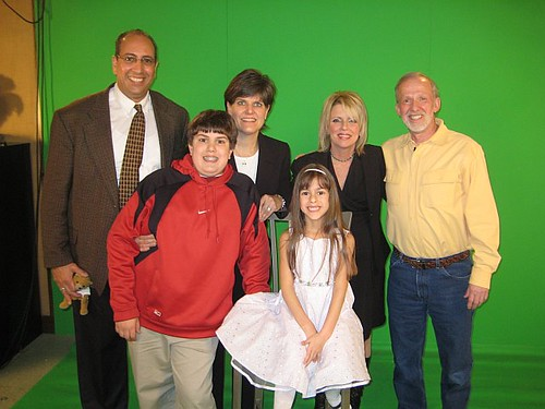 Aboulhouda family with Bob and Cathy at Bob's Discount Furniture