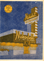 Nickodell, Los Angeles (jericl cat) Tags: sign illustration vintage menu restaurant design losangeles neon architectural nickodell 5511melrose