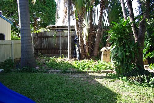 Finally a Clean Backyard Gardenbed