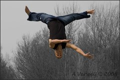"""JUMP"" Style (Alex Verweij) Tags: people bw playing alex strand jumping upsidedown soe almere cs3 koprol aplusphoto canon40d filmwijk coolestphotographers flickrlovers"