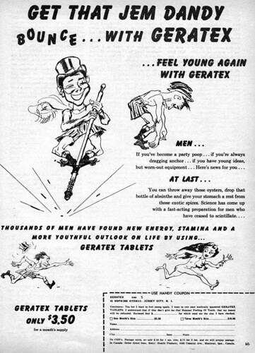 Vintage Ad #530: Get that Jem Dandy Bounce with Geratex!