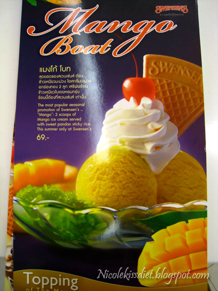 swensens mango boat menu