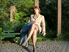 ega (Marie-Christine.TV) Tags: lady tv feminine tgirl business suit transvestite secretary feminin businesswoman kostm mariechristine skirtsuit businesslady sekretrin womans