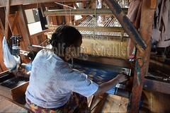 30098740 (wolfgangkaehler) Tags: asia asian southeastasia myanmar burma burmese inlelake villagelife lake innpawkhonevillage woman workshop people worker working weaver weaving weavingloom weavinglooms weavingcloth loom looms