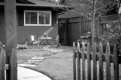 A quiet place to relax - Happy Fence Friday (randyherring) Tags: grass flowers peaceful nature sanjose home planter lawn california plant landscaped cosy outside maintained gardening relaxation bricks bw rest fence landscaping lawns landscape relax flower leisure outdoor monochrome yard window restful garden tree table idyllic suburban beautiful relaxing pretty house ca furniture green outdoorliving blackandwhite chairs chair