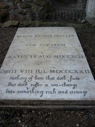 Percy Bysshe Shelleys grave.