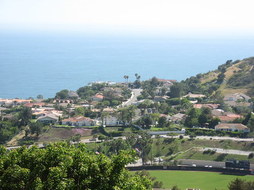 The view from Pepperdine University