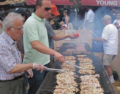 Cooking the Souvlaki