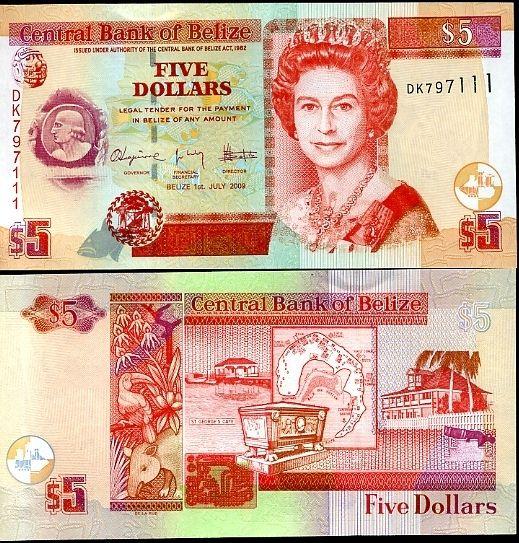 5 Dolárov Belize 2009
