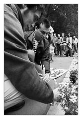 . (Thorsten Strasas) Tags: berlin real demo deutschland spain protest streetphotography streetlife demonstration spanish revolution ya tiergarten reportage botschaft democracia acampadaberlin democraciarealyaberlin