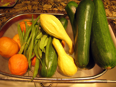 Organic Fruits & Veggies from my Garden
