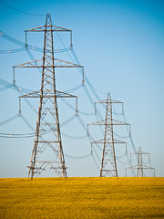 Over The Hill (Rafe Abrook Photography) Tags: tower landscape gold bedfordshire olympus rape pylon telephoto crop electricity e3 50200mm explored bestofblinkwinners