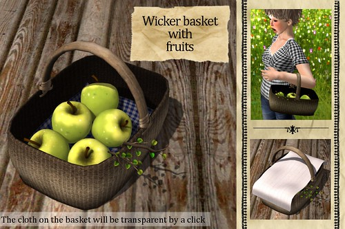 (Slow Kitchen)Wicker_basket(Green-apples)