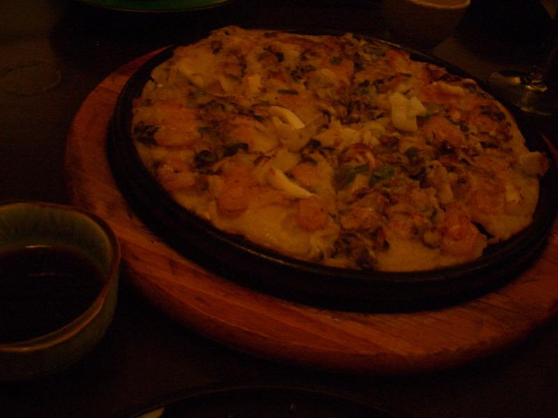 Seafood pancake at Goshen