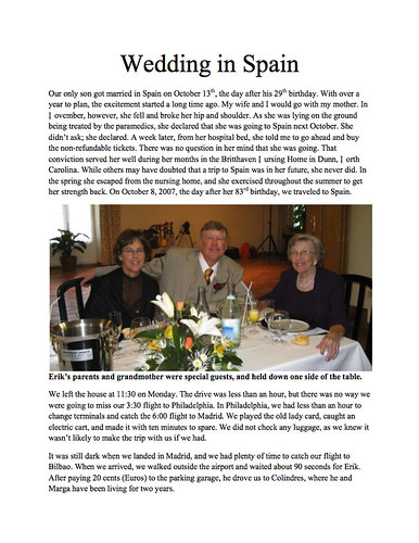 Wedding in Spain