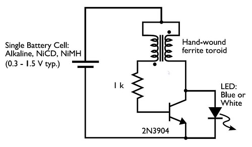 Weekend Projects With Bre Pettis Make A Joule Thief on 12 volt generator regulator wiring diagram