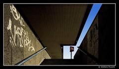 Geometrie (Stefano Pizzetti) Tags: light sky italy rome roma station architecture stairs contrast graffiti italia metro geometry perspective best vanishing vanishingpoints bestshots urbanfragments urbangeometry romacaputmundi stazionetiburtina brigaterozze undergroundsandsubways imagoromae geometriegeometry yourvisions officinefotografiche nikonclubitalia desafiourbano walkbyshootings romedirectory altraroma urbanexplorersitalia percorsiurbaniof stefanopizzetti metropolitanametro