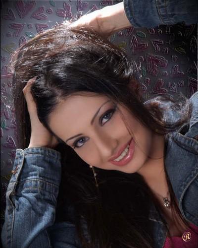 Saudi girl Sarah Al-Hamadi wearing denim jacket