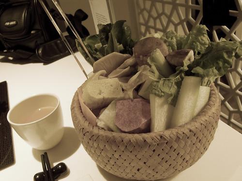 一人份量的蔬菜