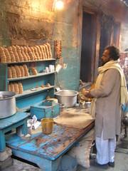 Varanasi: morning tea (namelessCat) Tags: people india tea varanasi rtw chai lpcafecult