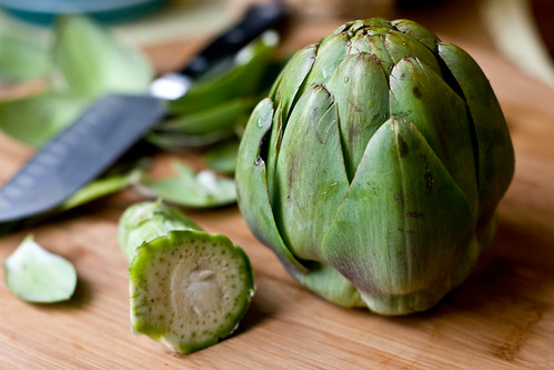 Prepping an Artichoke
