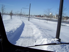 Where is the track? (streetcarbrad) Tags: snow streetcar kenosha pcc 4615