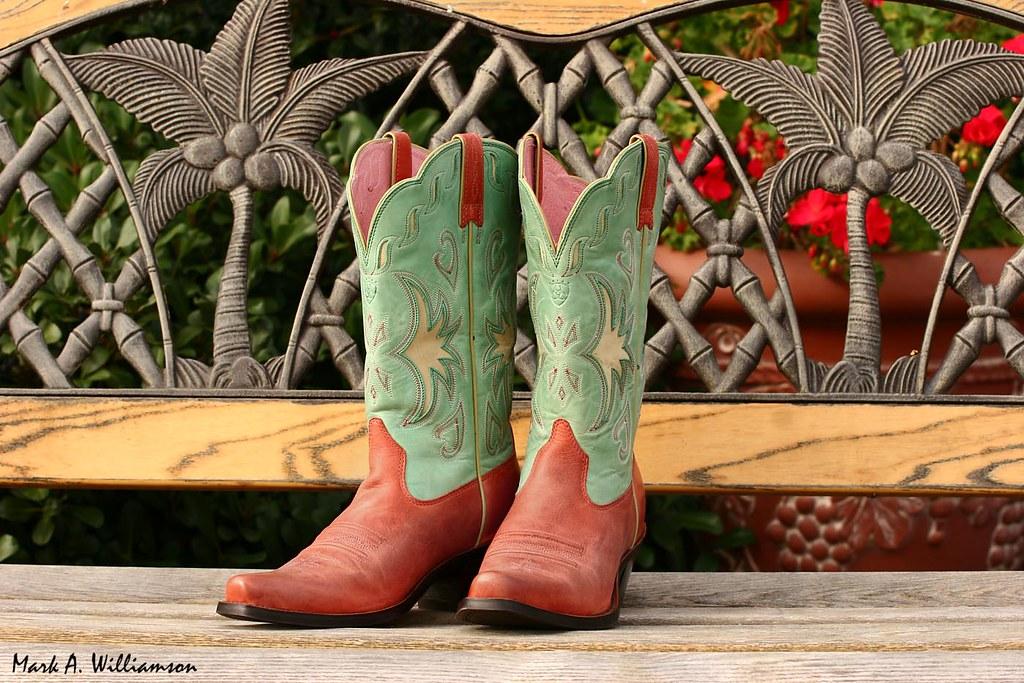Green Ariat Cowboy Boots
