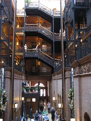 The amazing lobby of LA's Bradbury Building. (12/09/2007)