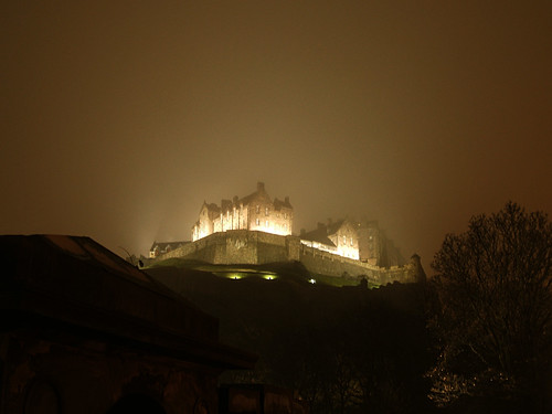 Even in the fog Edinburgh Castles gold shines through
