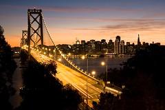 Rushing In (sfophoto) Tags: sanfrancisco christmas bridge holiday architecture night lights bay dusk baybridge embarcadero transamerica portofsanfrancisco mywinners