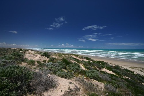 Goolwa coastline, South Australia.