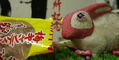 buone le caramelle all'umeboshi!!! (ari kokomosaico) Tags: rabbit mosaic mosaics mosaico divertenti ravenna coniglio mosaici kokomosaico fotodivertente