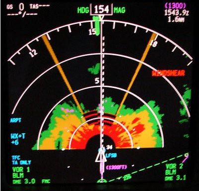 Boeing 737-800 Navigation Display y WX Radar