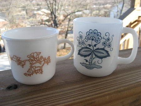 Corning & Glasbake Mugs