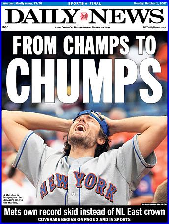 New York Mets Suck, From Champs To Chumps, they're losers