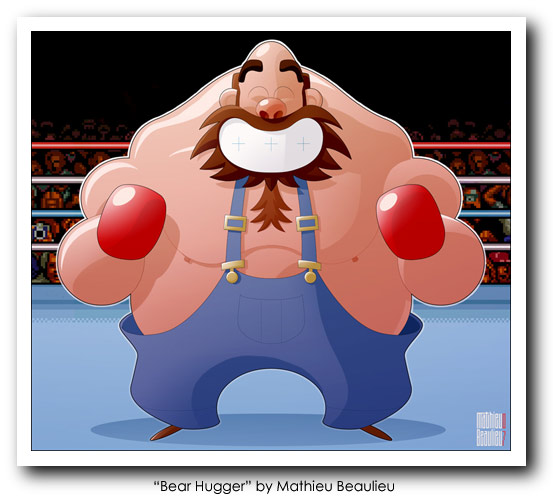 Punch Out Art - Bear Hugger