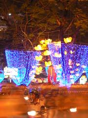 One Face (amasc) Tags: lighting streets public lights downtown traffic central vietnam celebration tet saigon hcmc