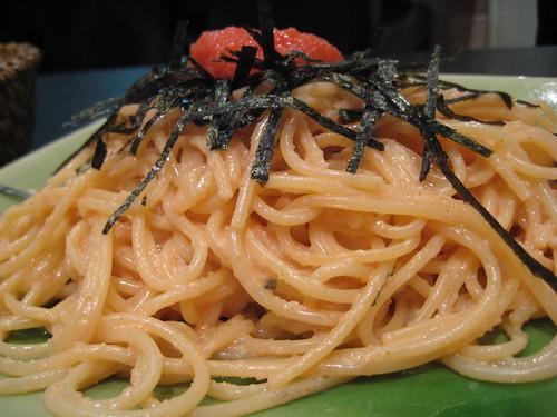 spaghetti aux œufs de morue