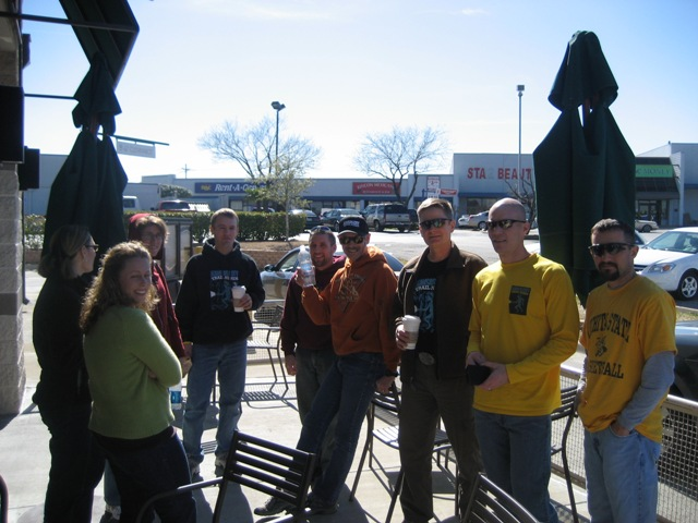 2008 Rocky Raccoon 100 Prerace at Starbucks2