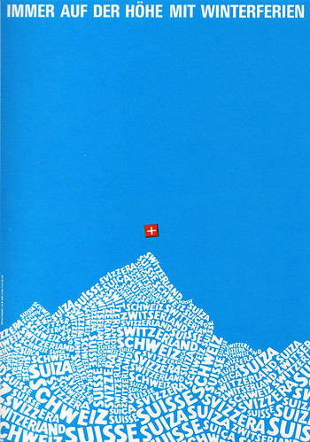 1960s Advertising - Poster - Swiss National Tourist Office (Switzerland) / Daniel Yanes Arroyo