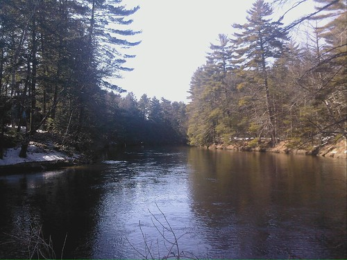 Souhegan River upriver from Wildcat Falls (samsung flipshot phone)