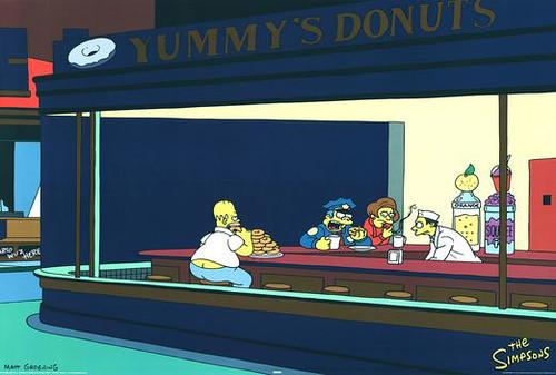 Simpsons-Nighthawks