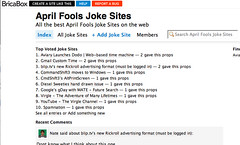 April Fools Joke Sites - BricaBox
