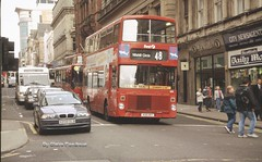 First Glasgow A56. (Lady Wulfrun) Tags: city bus circle roc scotland clyde volvo glasgow side transport bmw ailsa alexander falkirk newsagents wools b55 nitshill a56 alexanver kgg116y